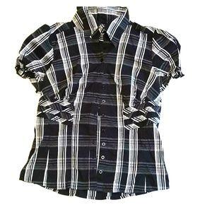 Bebe plaid button down shirt